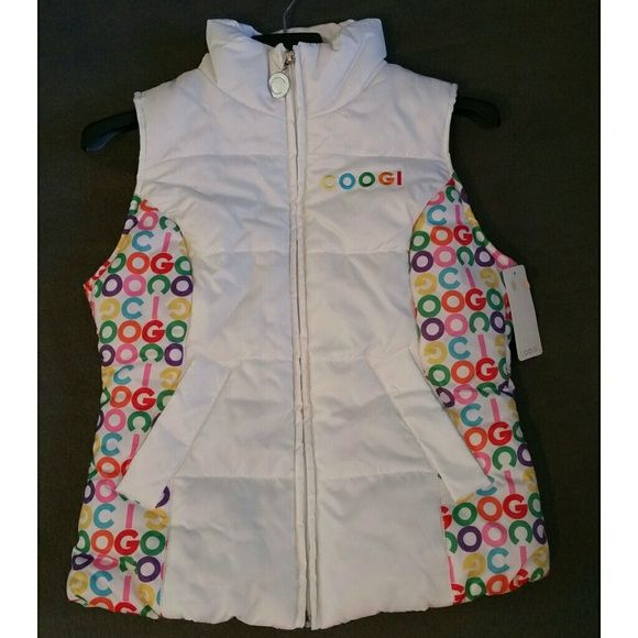 PRICE REDUCTION! White multi color vest. NWT COOGI Jackets & Coats