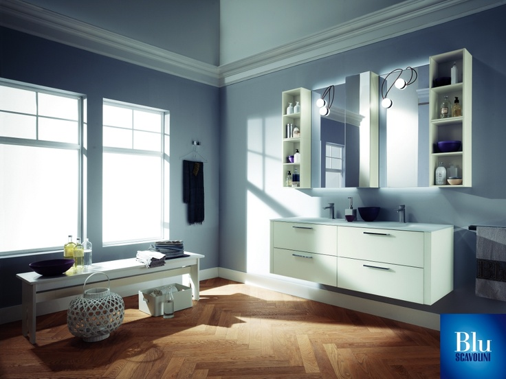 Font Collection. The #bathroom according to Scavolini. #BluScavolini