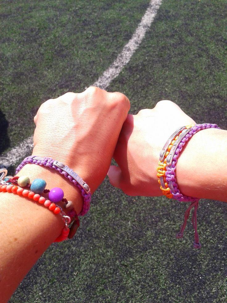 Purple and orange @ladiesrungreece bracelets by @linksoflondon... Skyblue is coming in 2014!!