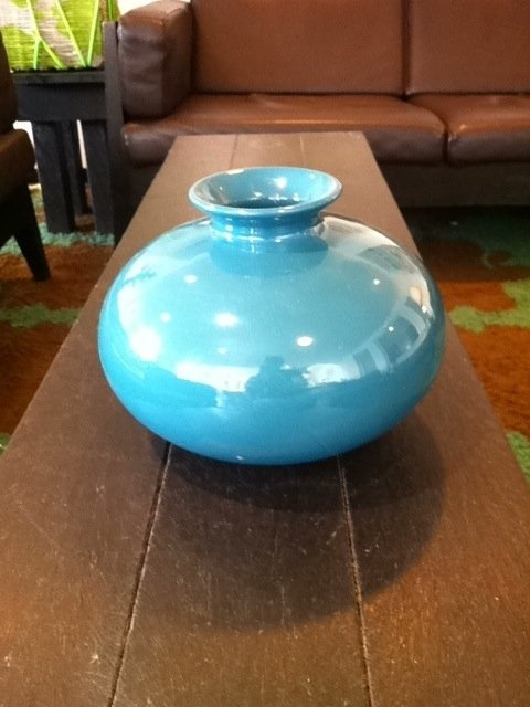 Great color for your new office! Beautiful Baby Blue Vase- Krrb.com