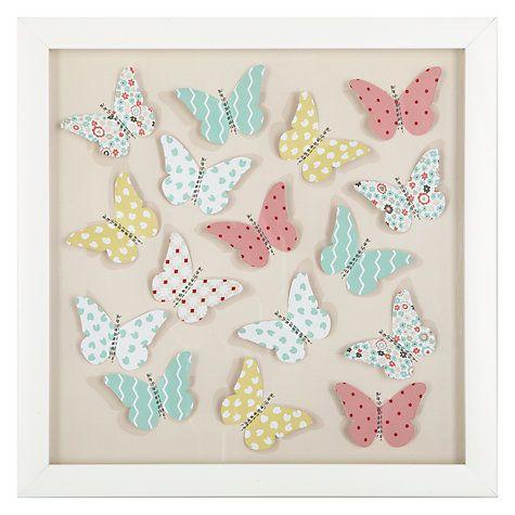 Buy little home at John Lewis Little Fairy Butterflies 3D Print Online at johnlewis.com