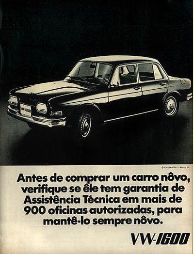 Anúncio Volkswagen 1600 - 1970