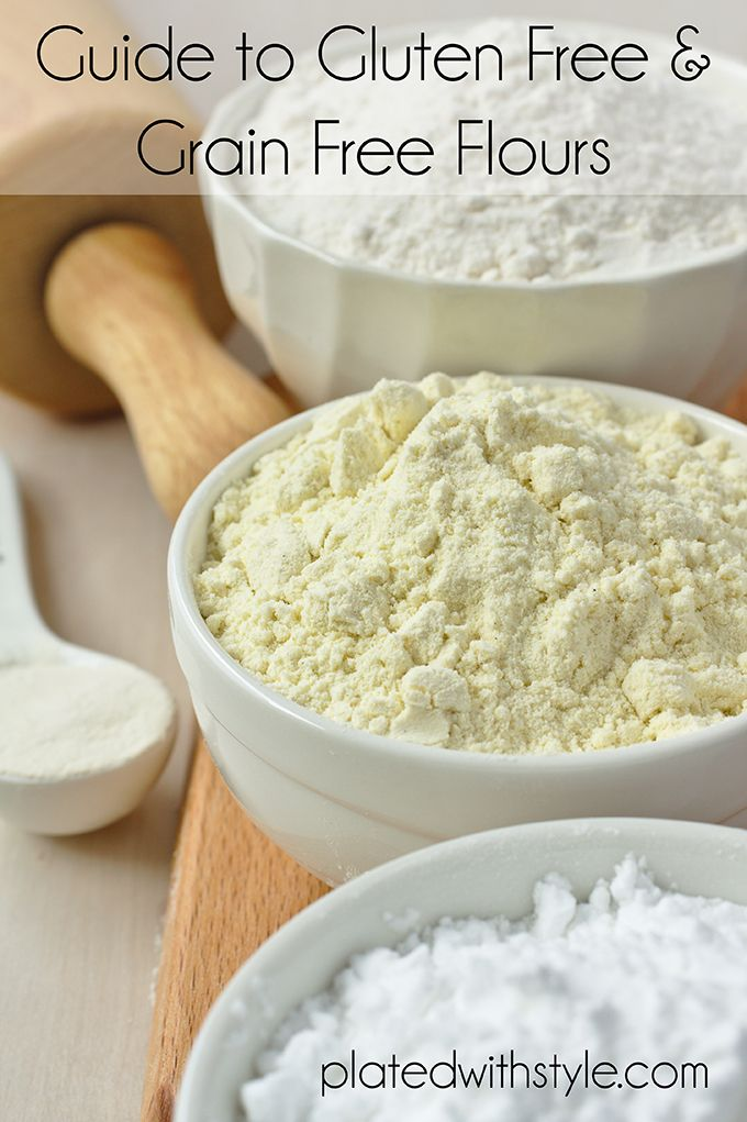 A guide for gluten free, grain free, and paleo friendly baking flours.