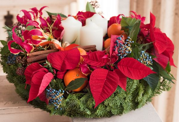Stella di Natale o #poinsettia #Christmas #gardeningtips #edelweiss #Natale #ghirlanda #howto #tips #comefare #tutorial #candela #candles #garland #red #rosso