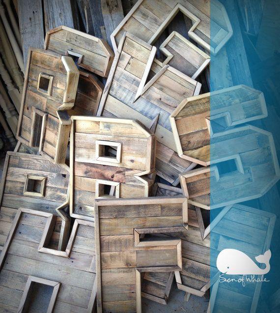 Madera original reclamado carpa letras (A-z) 16 pulgadas