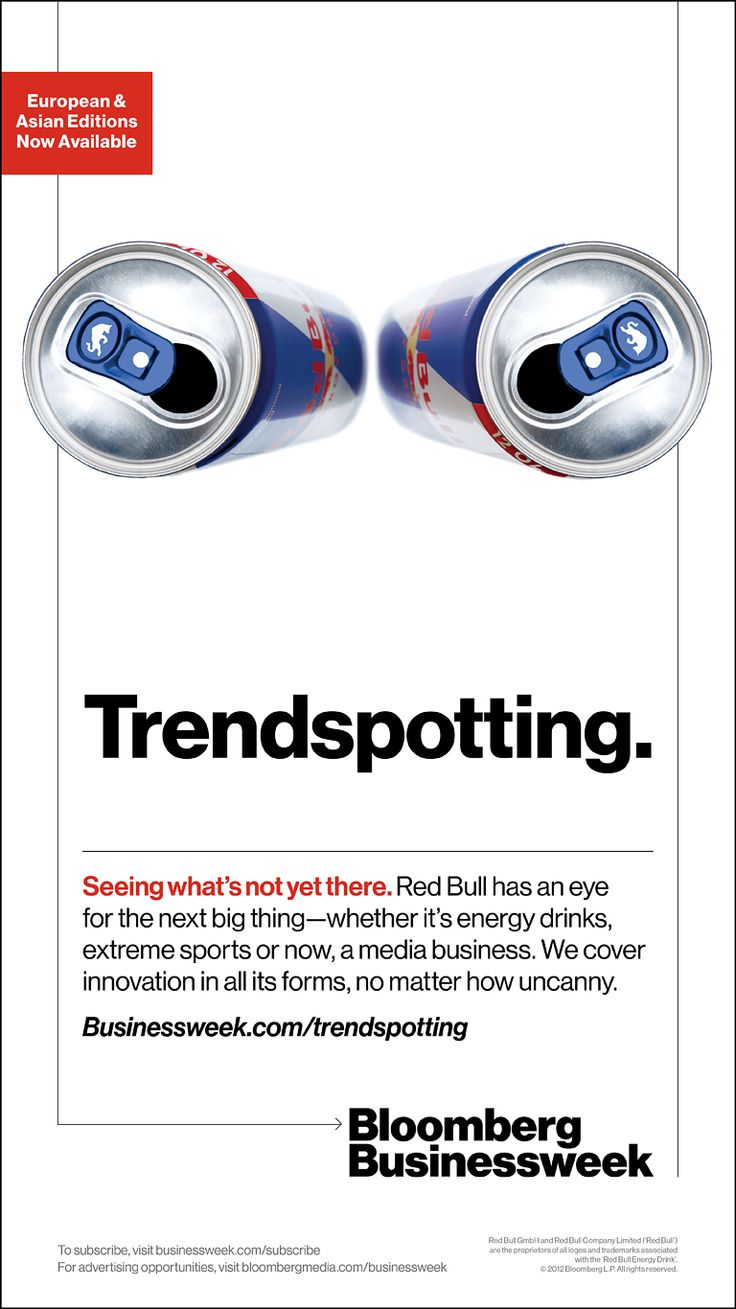 """Red bull has an eye for the next big thing"" - Bloomberg Businessweek unveils airport campaign to drive awareness"