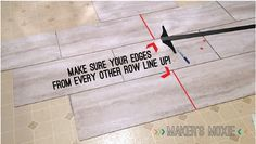 Grout-able, self adhesive, vinyl tile - A kitchen floor story