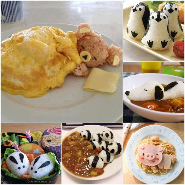 CUTE MEALS!!! food art.. almost too cute to eat