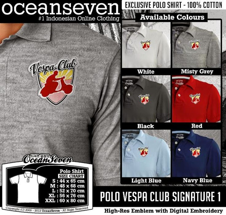 Kaos Polo Vespa Club Signature 1
