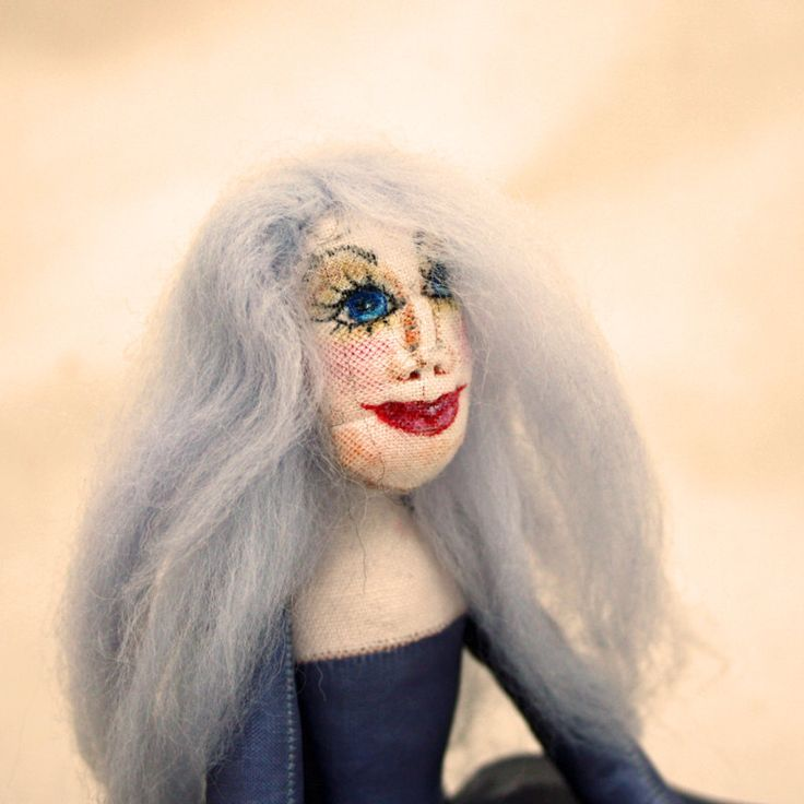 OOAk Cloth Art Doll Silva by CornishDragon on Etsy