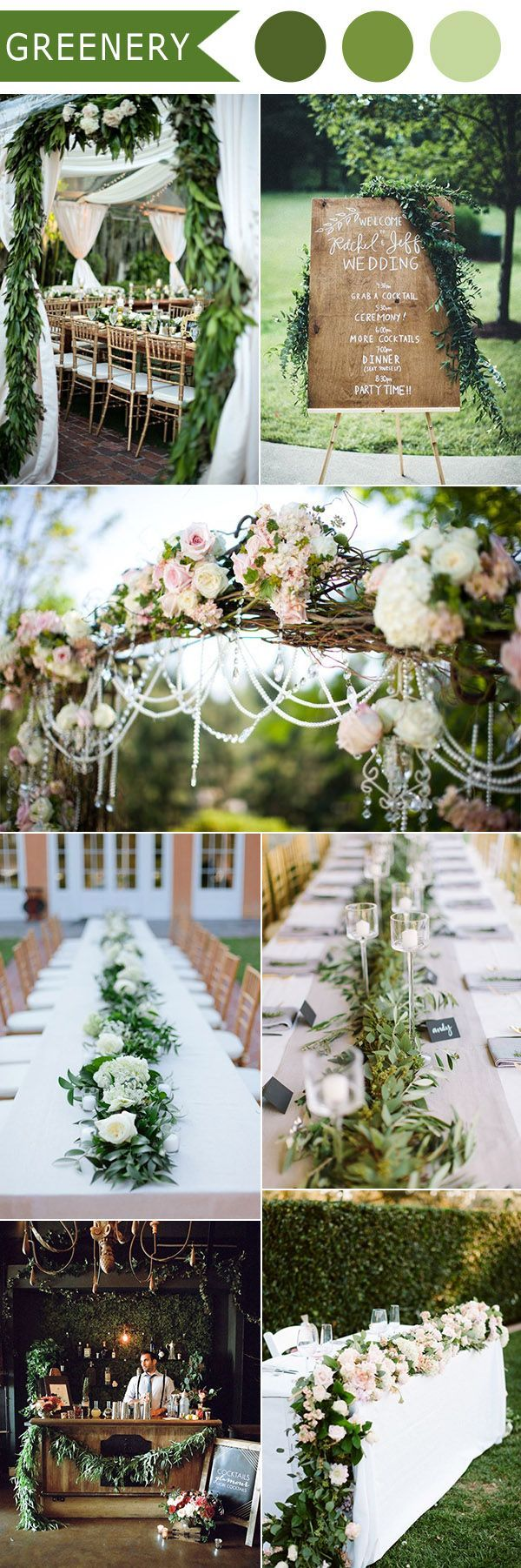 2016-trending-greenery-natural-lush-wedding-ideas.jpg (600×1802)