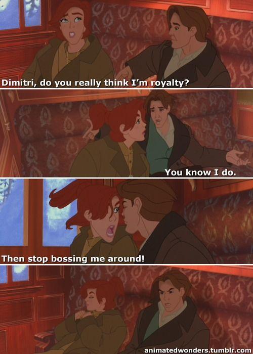 """Anastasia (Meg Ryan) & Dimitri (John Cusack) from """"Anastasia"""""""