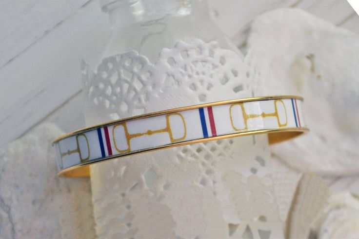 Women's Equestrian Bangle Bracelet - Gold HorseBit