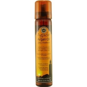 My hairstylist used this on my hair, and now I'm addicted. I had bleached my hair blonde for eight years, and recently went back to a dark chestnut brown. Needless to say, I had destroyed the condition of my hair. However, Agadir oil has brought it back to looking amazing. It leaves my hair with a weightless shine, has a wonderful scent, and after using it for the last month, I can feel a definite difference in my hair. $14.25 http://amzn.to/wCYDg7