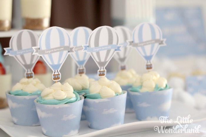Cupcakes from a Hot Air Balloon Birthday Party via Kara's Party Ideas | KarasPartyIdeas.com (9)