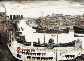 One of Lowry's paintings of Sunderland
