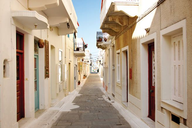 Andros beautiful narrow streets