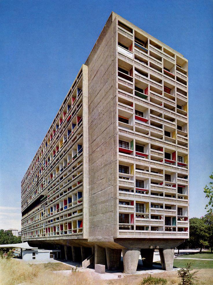 unite d 39 habitation marseilles france 1946 1952 le corbusier le corbusier pinterest. Black Bedroom Furniture Sets. Home Design Ideas