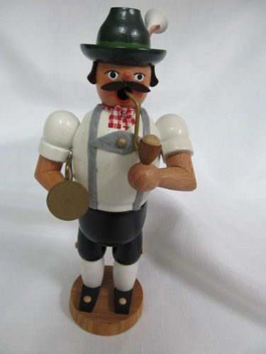 Vintage-Wood-Smoker-Incense-Burner-German-Lederhosen-Man-with-Trumpet