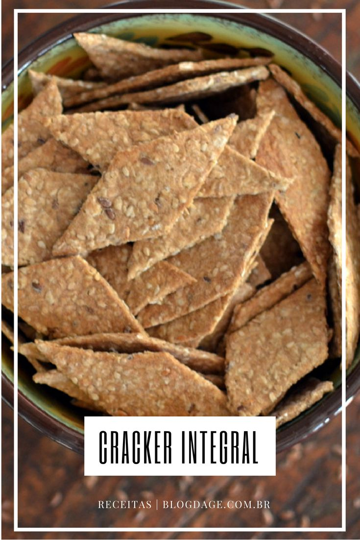 Receita: cracker integral - Blog da Ge