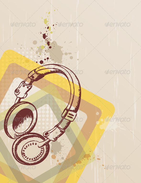 music background with headphones graphicriver retro music background with headphones and blots zip file