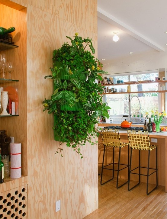 Living Wall Planter Green  System By Woolly Pockets