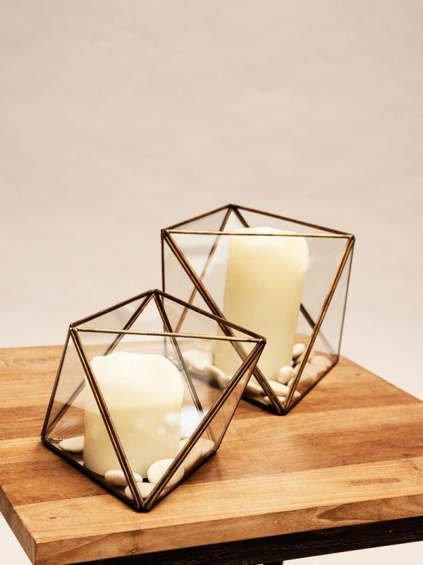 nagarey   Products - Tempat Lilin & Terrarium - Brondby Terrarium Small - Antique Gold