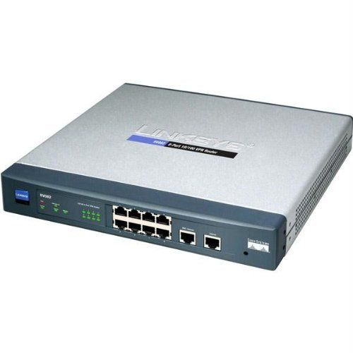 Cisco RV082 8-port 10/100 VPN Router - Dual WAN by Cisco. $249.99. From the Manufacturer                 A secure network connection tying your company to the world is the backbone of your business. You need a combination of performance and security to help keep your employees connected to the assets they need to keep your business productive. The Cisco RV082 Dual WAN VPN Router is a proven solution that delivers highly secure, high performance connectivity at the...