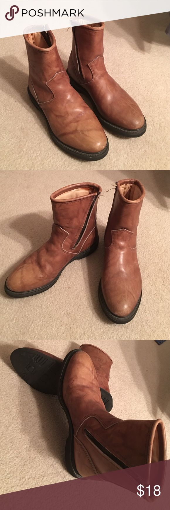 Cruiser Men Boots Made in USA tan leather boots. Good condition, and very light. Oil resistant. Cruiser Shoes Boots
