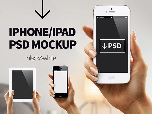 iPhone/iPad PSD mockup
