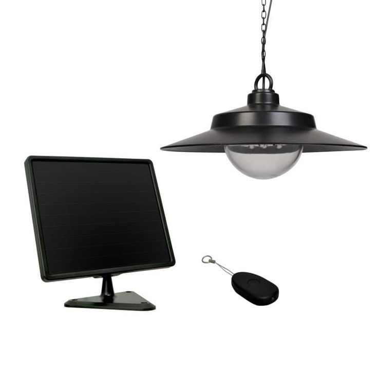 SunForce Solar Hanging Light with Remote Control, Black