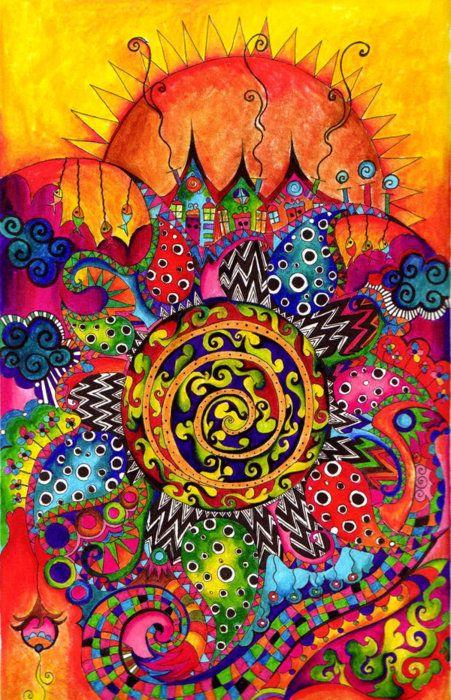 Colors abound  ♣: Colour, Bright Art, Medical Marijuana, Psychedelic Art, Colors Art, Sunny Day, Bohemian Colors, Hippie Art, Mandala