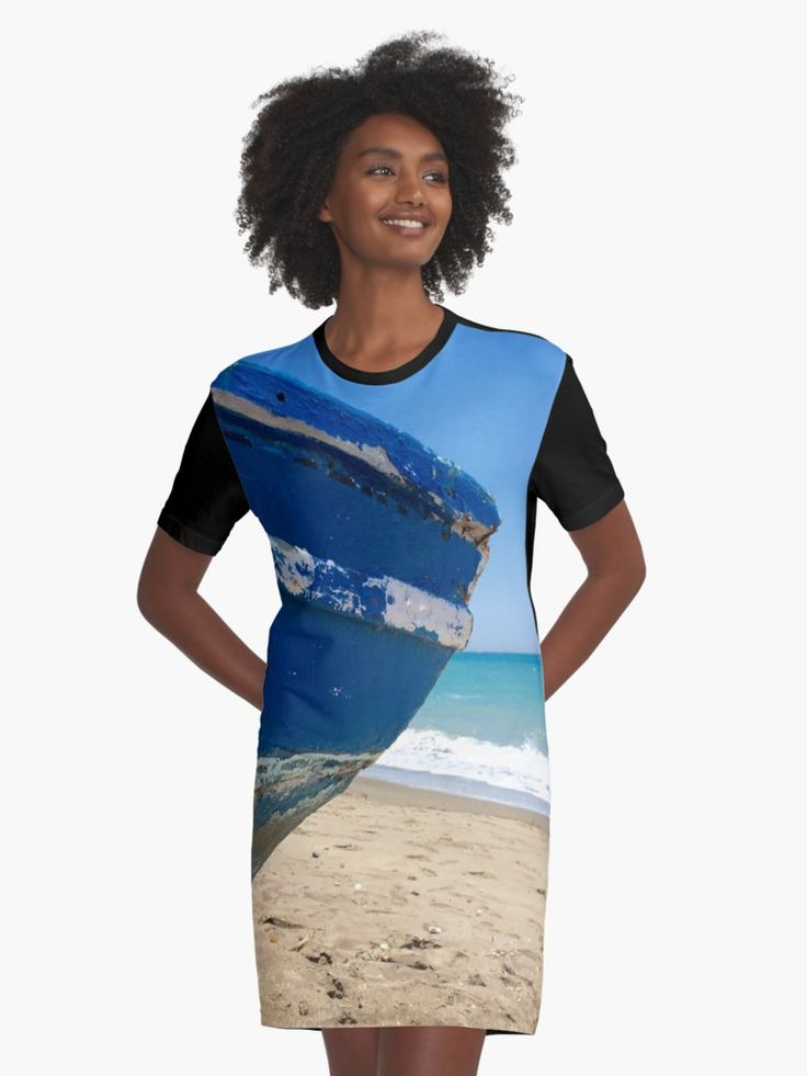 Blue boat on the beach. Old boat on beach from Grimaud in the south of France. • Also buy this artwork on apparel, phone cases, home decor, and more.