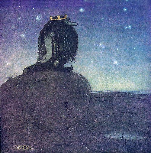 The King of troll mountain by John Bauer: