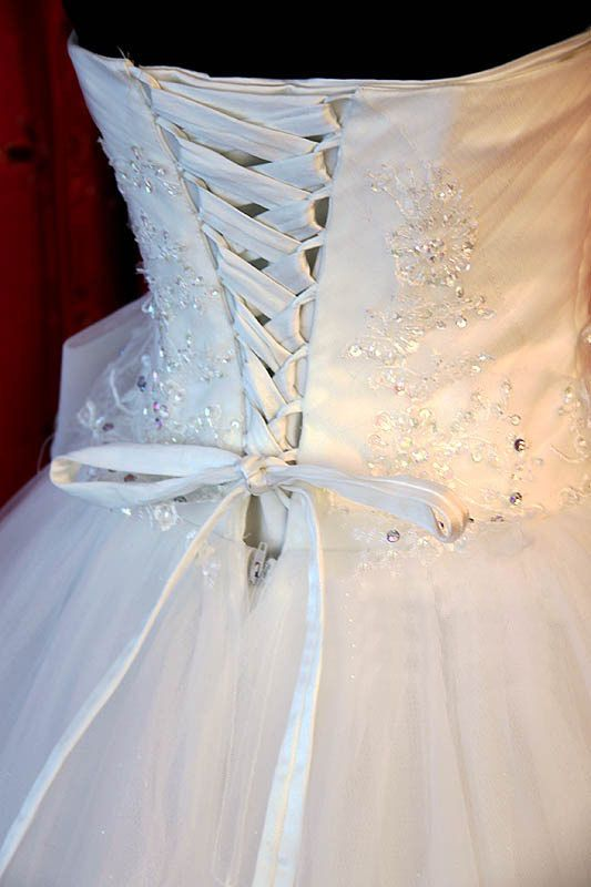 Stunning Bridal Gown Wedding Dress Ball Gown by MoonlitBridals, $850.00