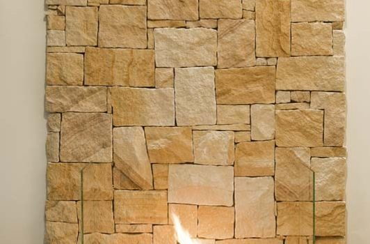 Irregular sandstone feature wall (full width)