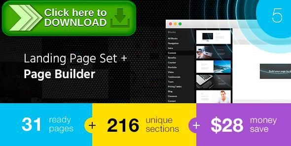 [ThemeForest]Free nulled download Select - Landing Page Set with Page Builder from http://zippyfile.download/f.php?id=29332 Tags: agency site, app landing, Business landing, html builder, landing page builder, landing page bunch, landing page constructor, landing page kit, Landing page set, landing pages pack, multi-purpose landing, multipurpose, page builder, real-estate landing, service landing