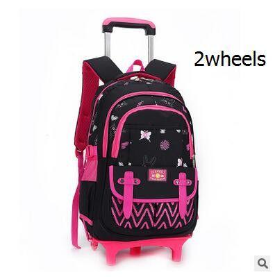 Kids Rolling Backpack for School Kids Trolley School Bag for Girl
