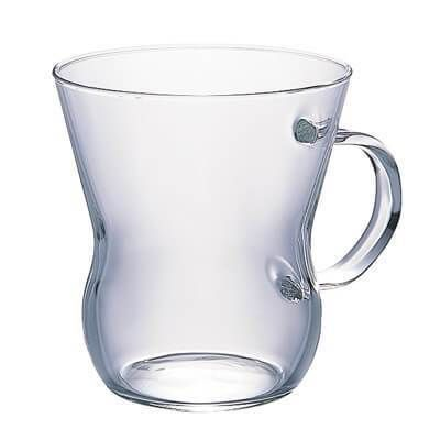 """Made from quality borosilicate glass the Hario """"Oolong"""" Mug is a stylish glass to enjoy both hot and cold beverages from."""