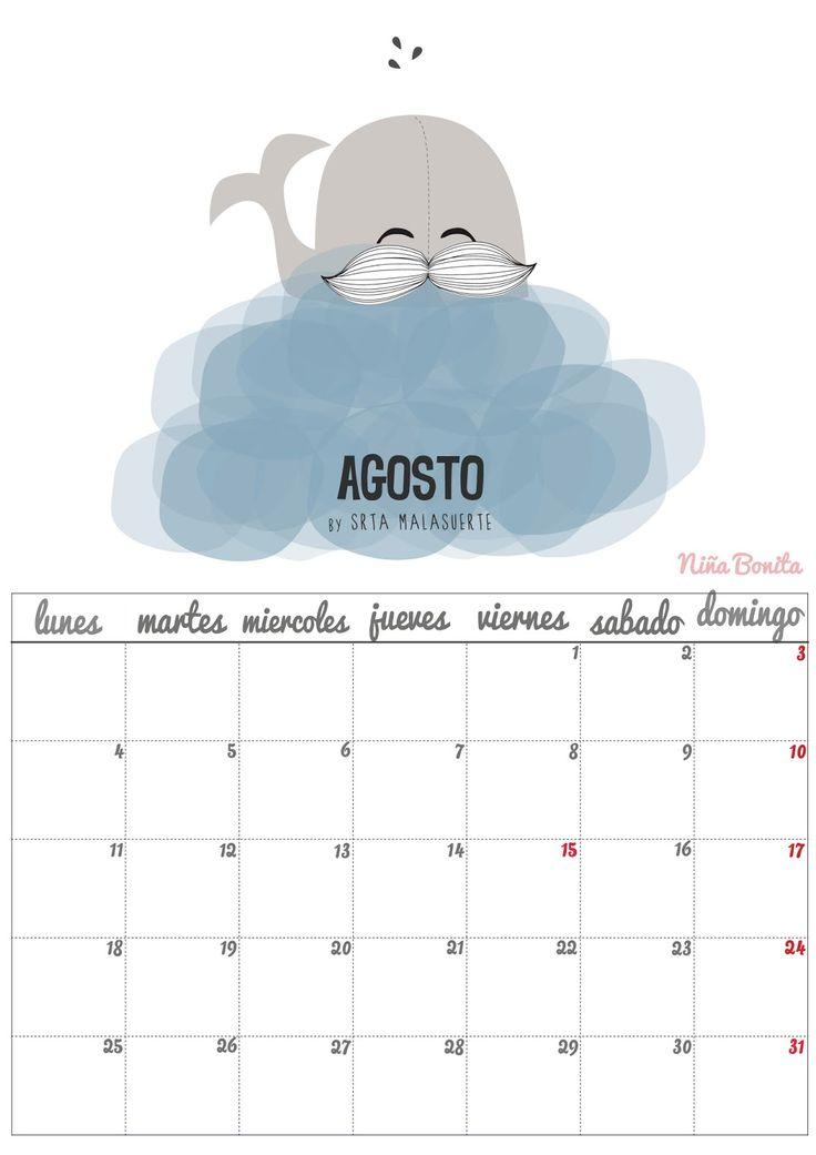 Imprimible: Calendario Agosto 2014