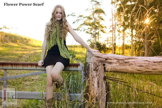 Flower Power Scarf - the essence of hippy
