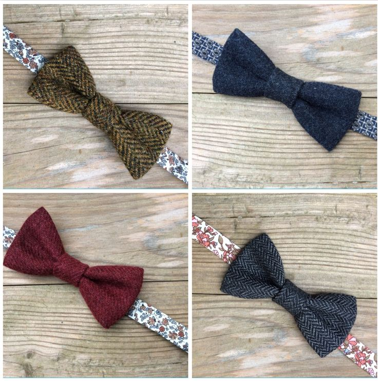 Lots of tweed bow ties in the webshop www.bakerstreethandmade.com