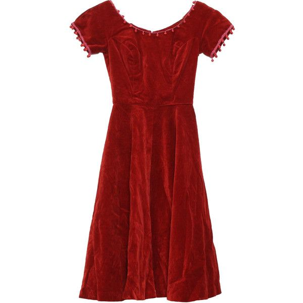 Vintage 1950's Cocktail Dress: 50s -Lorrie Deb- Womens wine velvet,... (1.600 ARS) ❤ liked on Polyvore featuring dresses, 50s dresses, wine red dress, petite cocktail dress, short sleeve cocktail dresses, petite red dress and red ball dress