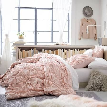 light pink bedding - pb teen [lots of texture!]