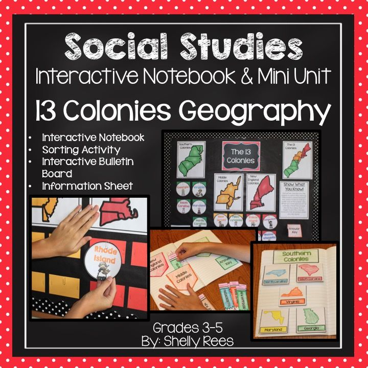 13 Colonies Interactive Notebook, Bulletin Board, and Mini Unit.  My students will LOVE this!