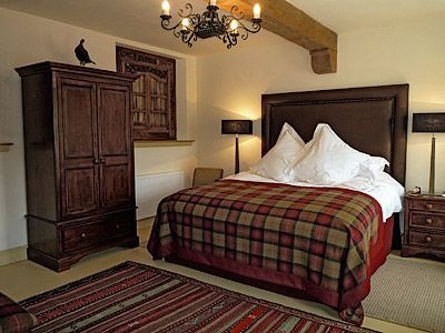 The Byre cottage, Tartan bedroom