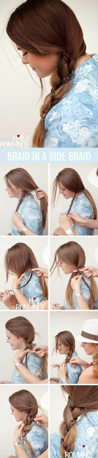 HAIRSTYLE TUTORIAL – SIDE BRAIDS WITH BRAIDS