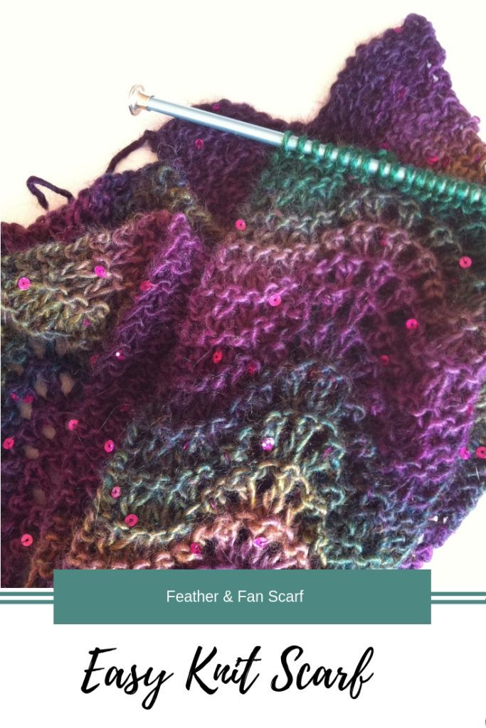 Crafting 365-Feather & Fan Scarf