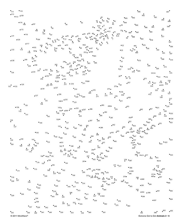 Free Activity! Try out a page from MindWare's Extreme Dot to Dot Animals 2 book! Once you connect the dots, color in the image for additional fun!  www.mindware.com