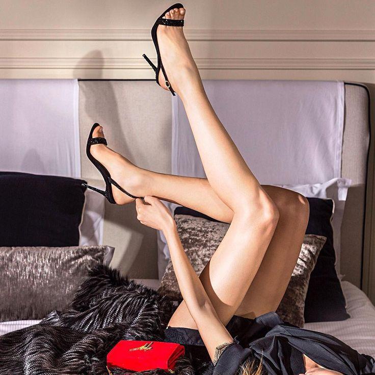 High Heel Legs Hanging Mid Air Stock Photo